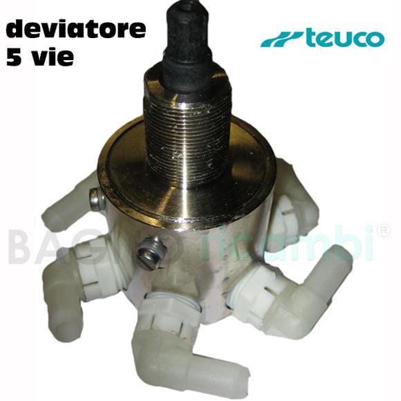 """Picture of Ricambio corpo deviatore 5 vie con raccordo 1/2"""" Teuco 81068801"""