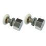 Immagine di Ricambio coppia rotelle MORELIVE argento Megius AA0228/R