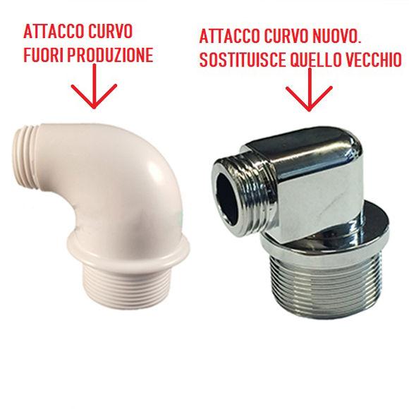 Immagine di Ricambio attacco curvo in metallo per doccetta Teuco 8102385820
