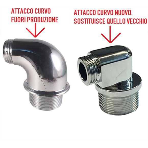 Immagine di Ricambio attacco curvo in metallo per doccetta Teuco 8102374820