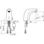 Immagine di Rubinetto miscelatore lavabo con fotocellula Electra Oras 6150F