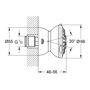 Immagine di Ricambio soffione doccia 2 funzioni cromo satinato Movario 70 Grohe 28517000