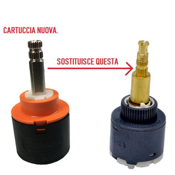 Picture of Ricambio cartuccia deviatrice 2 vie con scatto Teuco 81020258690