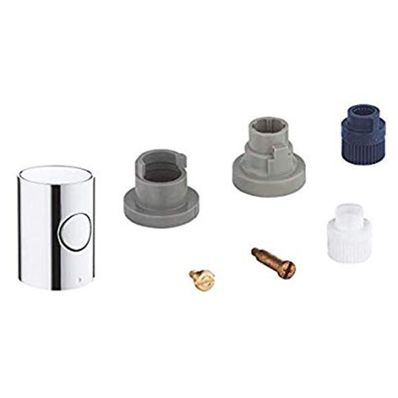 Immagine di Ricambio manopola metallo termostatica o intercettazione per colonna doccia esterna Grohe 47984000