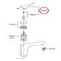 Picture of Ricambio leva maniglia apertura acqua Soft per rubinetteria Zucchetti R96999