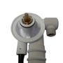 Immagine di colonna scarico cromo con erogazione drenaggio SILFRA Teuco 81808481621 67.5cm