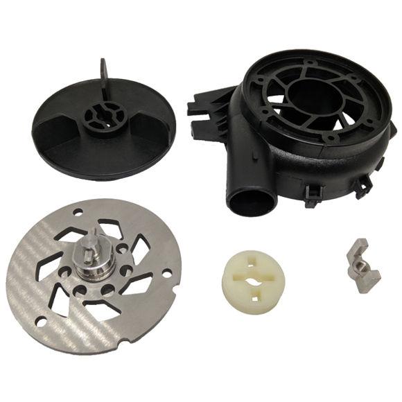 Immagine di Kit mozzo lama completo (disco a croce, forchetta, lama, turbina, fondo pompa) COUT001 per trasformazione sanibest da vecchio modello a nuovo