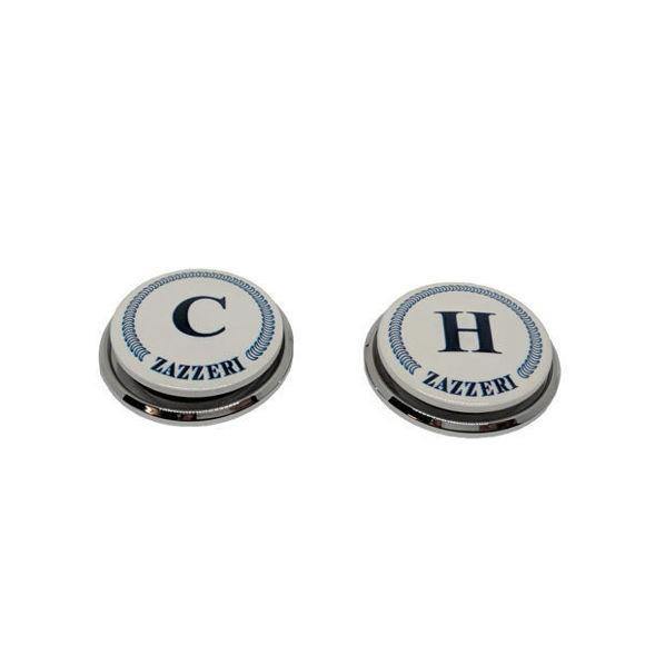 """Immagine di Ricambio coppia pasticche placchette """"C"""" e """"H"""" Zazzeri 5500-CH01-A00-CRCR"""