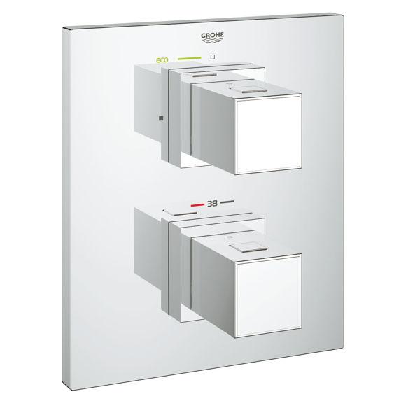 Picture of Ricambio Grohtherm Cube miscelatore termostatico per doccia solo parte esterna senza deviatore Grohe 19959000