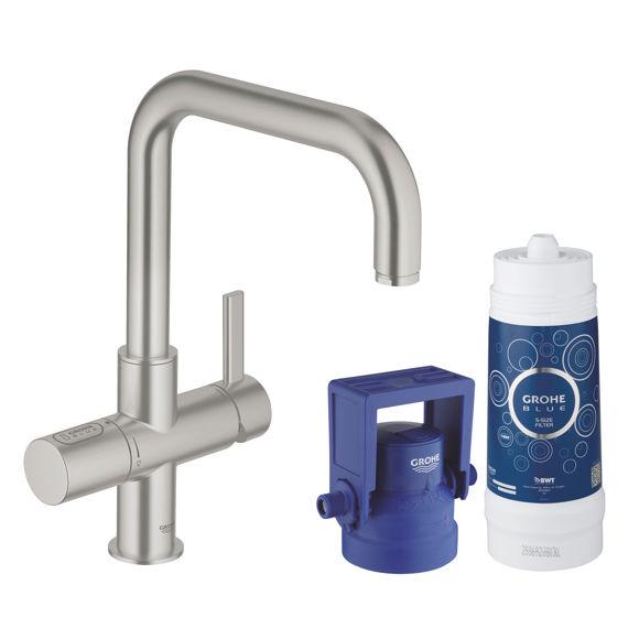 Picture of Grohe BLUE PURE rubinetto per lavello satinato effetto acciaio inox 31299DC1