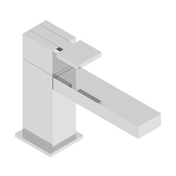 Immagine di Miscelatore lavabo BOX538SS04 Neve cromo