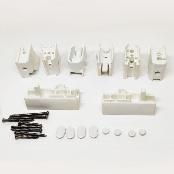 Picture of Ricambio kit completo supporti ruote bianco per box Megius A40058/1
