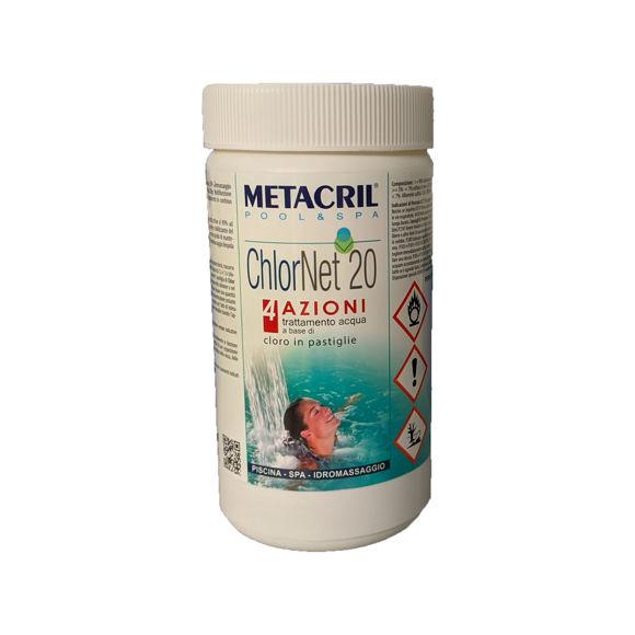 Picture of ChlorNet 20 4 Azioni trattamento acqua a base di cloro 1kg Metacril 41701001